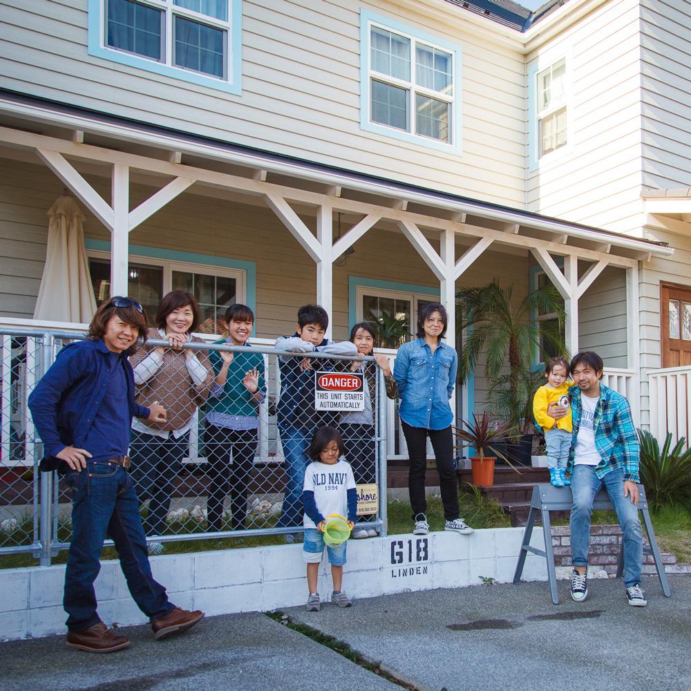 家族が賑わうサーファーズハウス